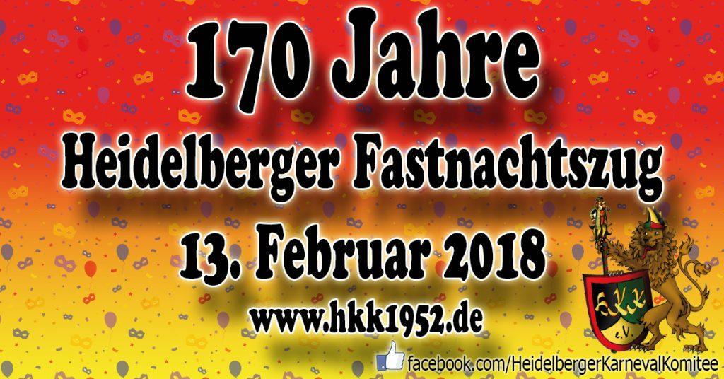 170 Jahre Fastnachtszug am 13. Februar 2018