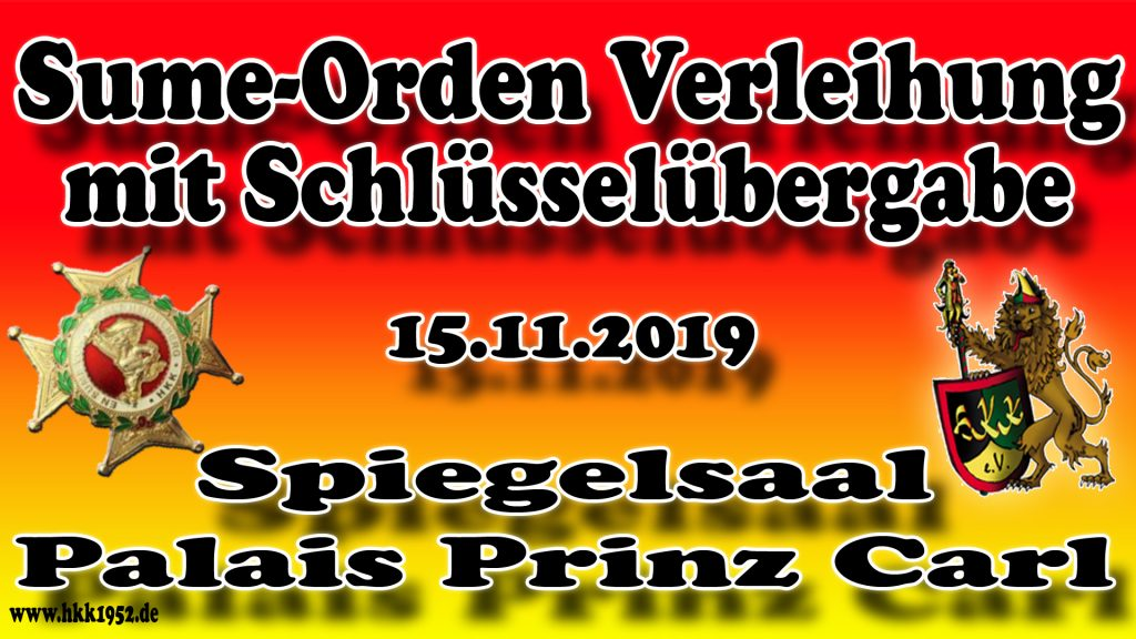 Sume-Orden Verleihung des Heidelberger Karneval Komitee ( HKK ) im Palais Prinz Carl